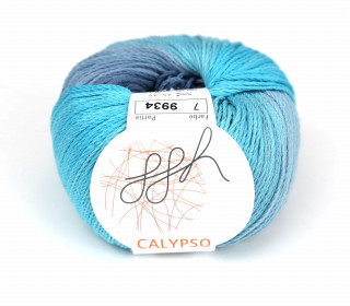 1 Strickgarn - Calypso - Farbverlauf - 185m - ggh - Meerblau/Türkis (007)