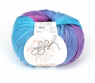 1 Strickgarn - Calypso - Farbverlauf - 185m - ggh - Cyanblau/Pink (011)
