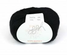 1 extrafeine Wolle - Baby Alpaka Fino - 200m - ggh - Schwarz (001)
