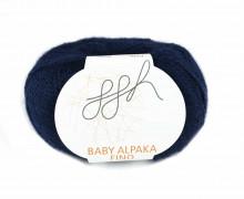 1 extrafeine Wolle - Baby Alpaka Fino - 200m - ggh - Nachtblau (012)