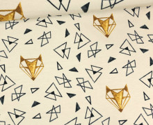 Jersey - Fuchs - Dreiecke - Cremebeige