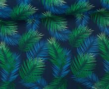 Stoff - Palmenwedel - Palme - Leaves - Nassau - Blaugrau