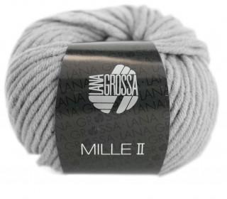 1 Wollgarn - Mille II - 55m - Lana Grossa - Hellgrau meliert (043)