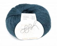 1 extrafeine Wolle - Baby Alpaka - 100m - ggh - Petrol Dunkel (032)