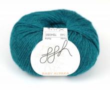 1 extrafeine Wolle - Baby Alpaka - 100m - ggh - Petrol (046)