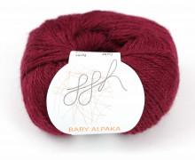 1 extrafeine Wolle - Baby Alpaka - 100m - ggh - Bordeaux (037)