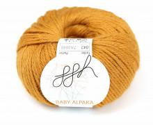 1 extrafeine Wolle - Baby Alpaka - 100m - ggh - Ocker (042)