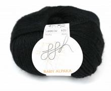 1 extrafeine Wolle - Baby Alpaka - 100m - ggh - Schwarz (024)
