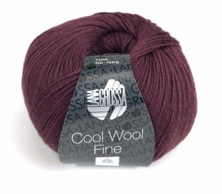 1 extrafeine Merinowolle - Cool Wool Fine - 300m - Lana Grossa - Weinrot Dunkel (035)