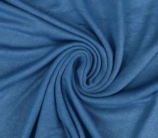 Elastischer Ramie - leichter Strickstoff - Uni - Blau