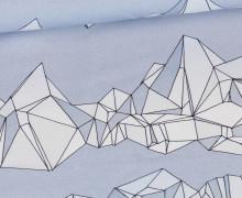 Sommersweat - Kombistoff - Snowboard Bear - Graublau Meliert - Thorsten Berger - abby and me