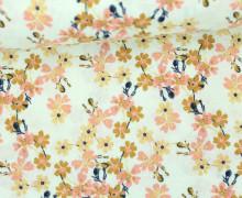 Stoff - Blüten - Knospen - Berry Blossoms - Hellmint