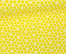 Stoff - Blumen - grafisch - Bee Youtiful - Zitronengelb