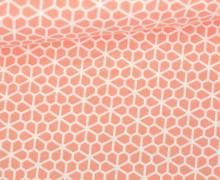 Stoff - Blumen - grafisch -  Bee Youtiful - Apricotrosa
