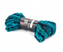 1 Wollgarn - Weekend Color - Chunky Garn - 35m - Lana Grossa - Schwarz/Grau/Petrol (205)