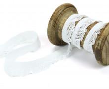 1m elastisches Rüschenband - 15mm - Rüschen - Gummiband - Weiß