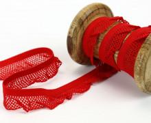 1m elastisches Rüschenband - 15mm - Rüschen - Gummiband - Rot