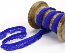 1m elastisches Rüschenband - 15mm - Rüschen - Gummiband - Royalblau