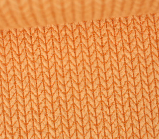 Bio-Jacquard - 3D - Big Knit - GLOW - Glitzer - Orange - Hamburger Liebe