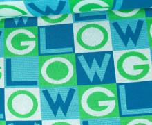 Bio-Jacquard - Glow - GLOW - Glitzer - Hellblau/Hellgrün - Hamburger Liebe