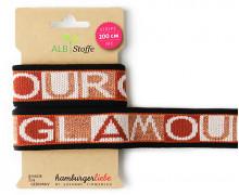 Jacquard-Streifenband - Stripe Me - Icon - GLOW - Glamour - Schwarz - Hamburger Liebe