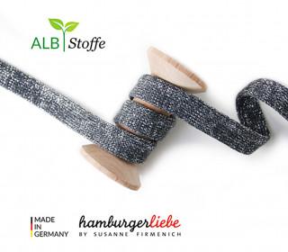 Hoodiekordel - Flachkordel - Cord me - GLOW - 20mm - XXL - Dunkelgrau - Hamburger Liebe