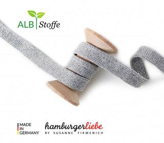 Hoodiekordel - Flachkordel - Cord me - GLOW - 12mm - Hellgrau - Hamburger Liebe