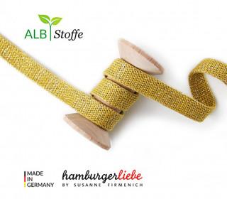 Hoodiekordel - Flachkordel - Cord me - GLOW - 20mm - XXL - Senfgelb - Hamburger Liebe