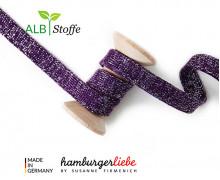 Hoodiekordel - Flachkordel - Cord me - GLOW - 12mm - Violett - Hamburger Liebe