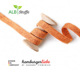 Hoodiekordel - Flachkordel - Cord me - GLOW - 20mm - XXL - Orange - Hamburger Liebe