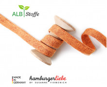 Hoodiekordel - Flachkordel - Cord me - GLOW - 12mm - Orange - Hamburger Liebe