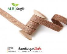 Hoodiekordel - Flachkordel - Cord me - GLOW - 12mm - Dunkelbeige/Kupfer - Hamburger Liebe