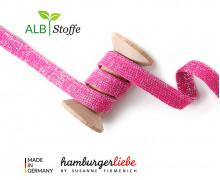 Hoodiekordel - Flachkordel - Cord me - GLOW - 20mm - XXL - Pink - Hamburger Liebe