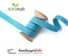Hoodiekordel - Flachkordel - Cord me - GLOW - 20mm - XXL - Cyanblau - Hamburger Liebe