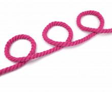 1m Hoodieband - Baumwollkordel - Gedreht - Uni - 8mm - Pink