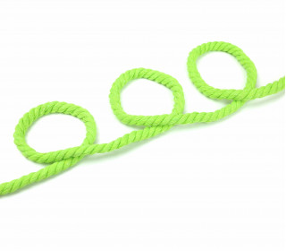 1m Hoodieband - Baumwollkordel - Gedreht - Uni - 8mm - Apfelgrün