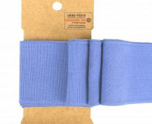 Bündchen - Boord Cuffs - Rippen - Uni - Taubenblau