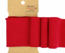 Bündchen - Boord Cuffs - Rippen - Uni - Rot