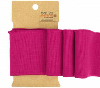 Bündchen - Boord Cuffs - Rippen - Uni - Pink