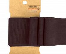 Bündchen - Boord Cuffs - Rippen - Uni - Aubergine