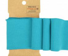 Bündchen - Boord Cuffs - Rippen - Uni - Cyanblau