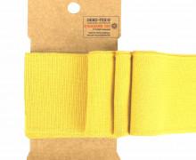 Bündchen - Boord Cuffs - Rippen - Uni - Gelb