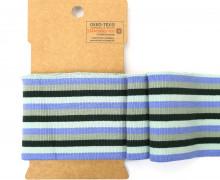 Bündchen - Boord Cuffs - Rippen - mittlere Streifen - Mint/Blau