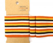 Bündchen - Boord Cuffs - Rippen - mittlere Streifen - Orange/Warmweiß