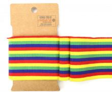 Bündchen - Boord Cuffs - Rippen - mittlere Streifen - Rot/Gelb