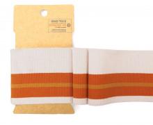 Bündchen - Boord Cuffs - Rippen - breite Streifen - Blassrosa/Orange