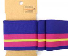 Bündchen - Boord Cuffs - Rippen - breite Streifen - Pink/Lila