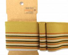 Bündchen - Boord Cuffs - Rippen - schmale und breite Streifen - Senfgelb/orange