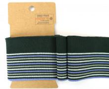 Bündchen - Boord Cuffs - Rippen - schmale und breite Streifen - Tannengrün/Mint
