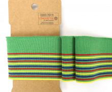 Bündchen - Boord Cuffs - Rippen - schmale und breite Streifen - Grün/Rot